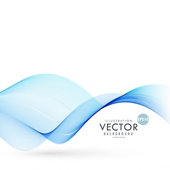 Blauwe gladde wave achtergrond illustratie