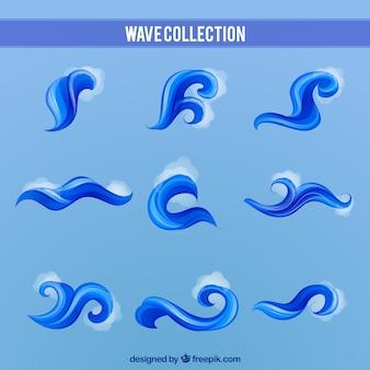 Blauwe golfcollectie
