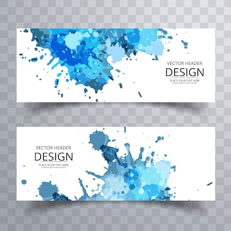 Blauwe grungy banners