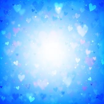 Blauwe harten achtergrond