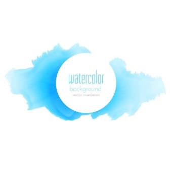 Blauwe inkt splash aquarel textuur achtergrond