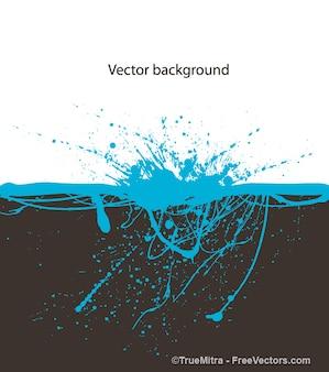 Blauwe inkt splash onderwater achtergrond