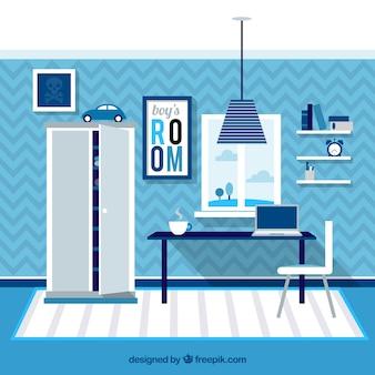 Spiegel slaapkamer op laden met een zetel iconen gratis download - Kamer blauwe jongen grijs ...