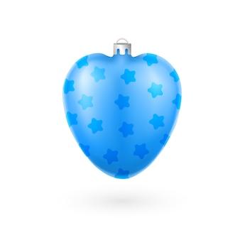 Blauwe kerstboom decoratie