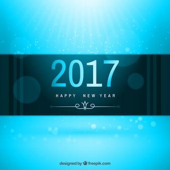 Blauwe New Year 2017 Achtergrond
