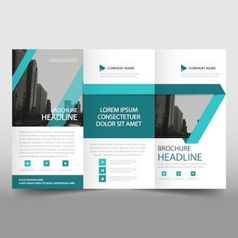 Blauwe trifold Brochure brochure sjabloon