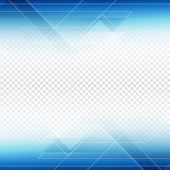Blauwe veelhoek vorm ontwerp op transparante achtergrond