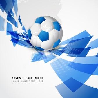 Blauwe voetbal achtergrond