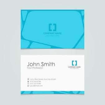 Blauwe vormen visitekaartje ontwerp