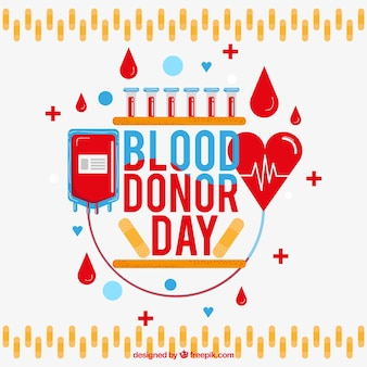 Bloeddonor dag achtergrond met blod transfusie ontwerp