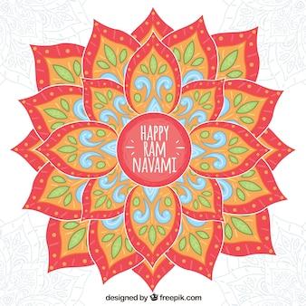 Bloemen achtergrond met blauwe informatie voor pamnavmi