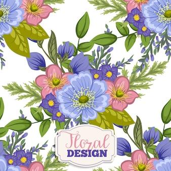 Bloemen achtergrond ontwerp