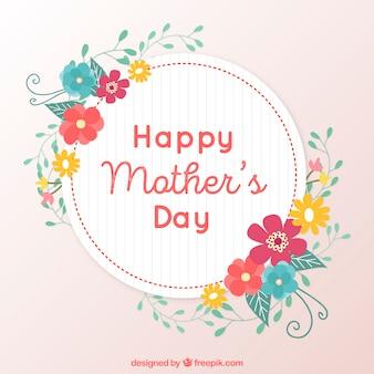 Bloemen achtergrond voor moederdag