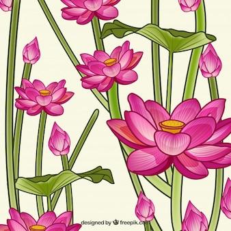 Bloemen achtergrondontwerp