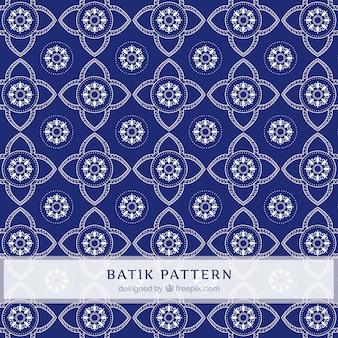 Bloemen geometrisch patroon van de batik