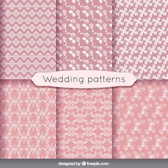 Bloemen huwelijk patronen in vintage stijl