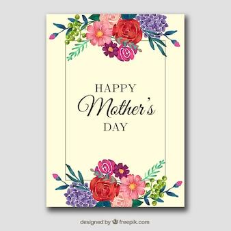 Bloemen kaart voor moederdag