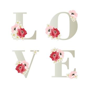 Bloemen liefde achtergrond