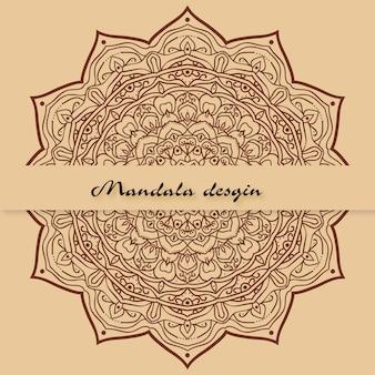 Bloemen mandala achtergrond