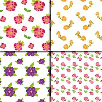 Bloemen patroon achtergrond collectio