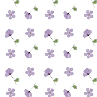 Bloemen patroon op een witte achtergrond