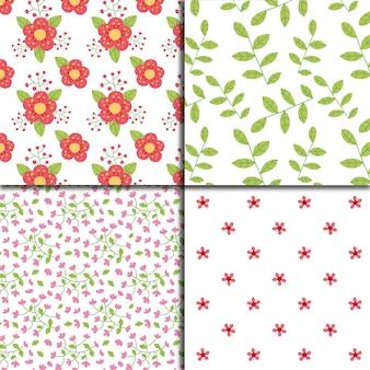 Bloemen patroon op witte achtergrond collectie