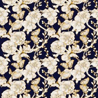 Bloemen patroonachtergrond