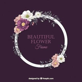 Bloemen ring achtergrond