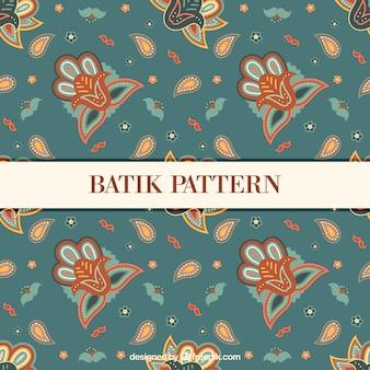 Bloemen vintage patroon in batikstijl