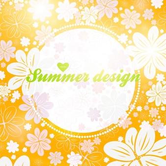 Bloemenbehang shine textiel achtergrond