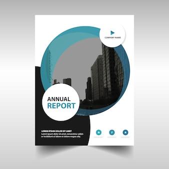 Blue creatieve jaarverslag cover van het boek template
