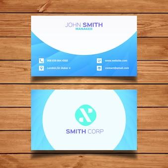 Blue minimale visitekaartje