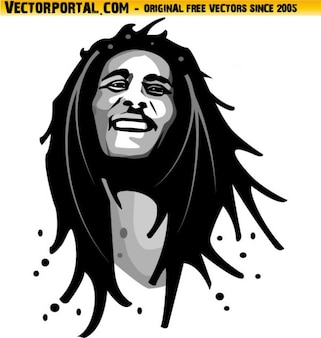 Bob marley portret reggaemuziek