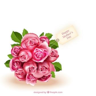 Boeket rozen voor moederdag