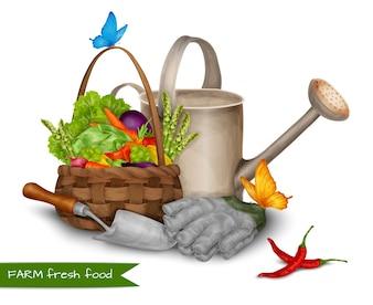 Boeren vers voedselconcept