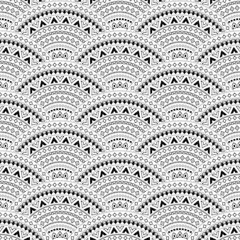 Boho stijl naadloos patroon