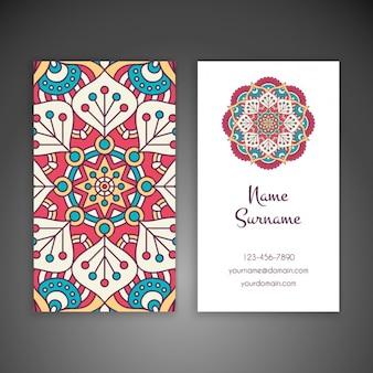 Boho-stijl visitekaartjeontwerp