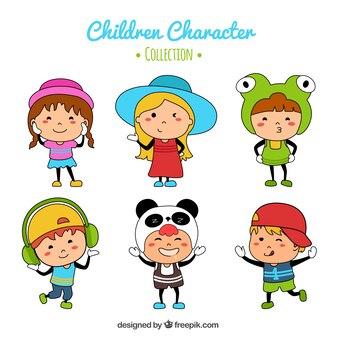 Bonte verzameling van grappige kinderen