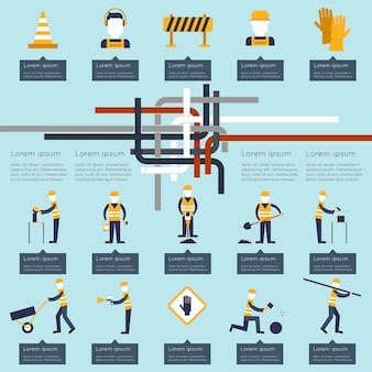 Bouw infographic ontwerp
