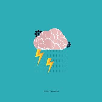Brainstormen concept