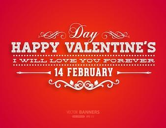 Brochure lint decoratieve achtergrond valentijn