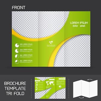 Brochure sjabloon tri fold