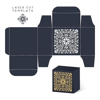 Bruiloft laser cut box met mandala