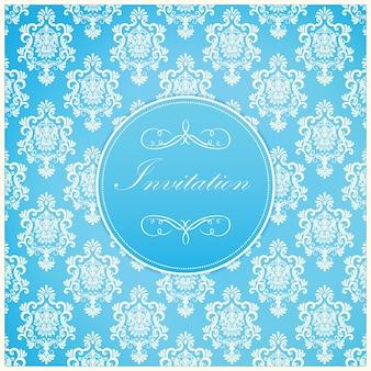 Bruiloft uitnodiging en aankondiging kaart met vintage achtergrond kunstwerk. Elegante sierlijke damastachtergrond. Elegant floral abstract ornament. Ontwerp sjabloon.