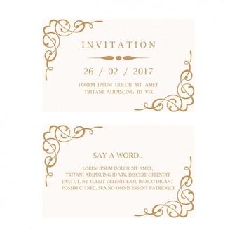Bruiloft uitnodiging kaart