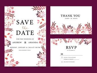 Bruiloft uitnodigingskaarten, Bedankt kaart, Trouwpapier