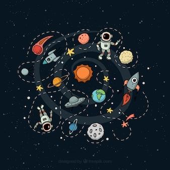 Buitenste ruimte illustratie