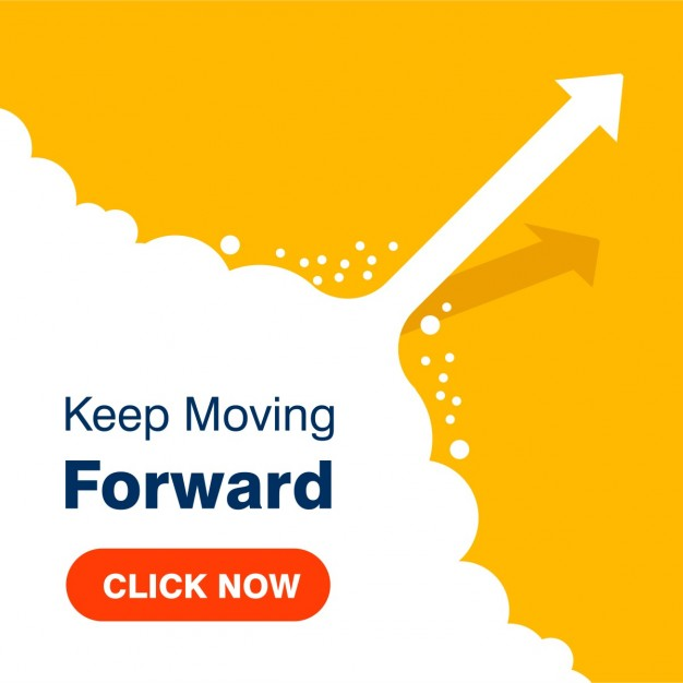 Business concept Keep Moving Forward Succes achtergrond