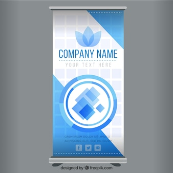 Business roll up template in blauwe tinten
