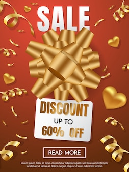 Cadeau doos verkoop sjabloon banner Vector achtergrond